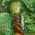 Garden Gate by Janet Boyd Art