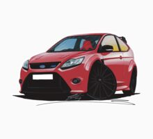 Ford Focus RS (Mk2) Red [Black Wheels] by Richard Yeomans