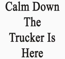 Calm Down The Trucker Is Here  by supernova23