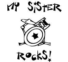 My Sister Rocks! Drums by surgedesigns