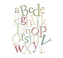 Vintage Alphabet Letters Photographic Print