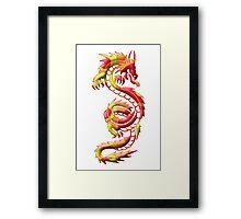 Dragon Silhouette Framed Print