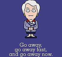 Carolyn from Cabin Pressure (card) by redscharlach