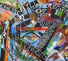 The Genetic Bill of Rights Painting Series by Mariam Muradian