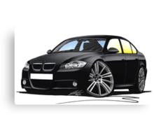 BMW 3-series (E90) Black Canvas Print