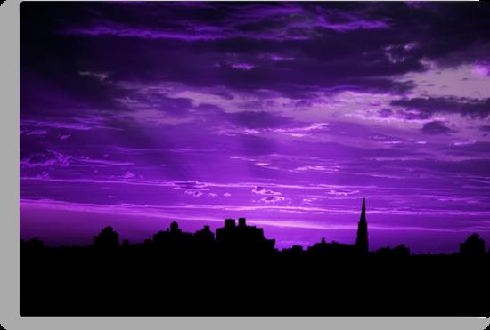 Purple Rays by Sarah Moore