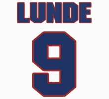 National Hockey player Len Lunde jersey 9 by imsport