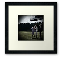 Redefining Normal squashed by shoe Framed Print