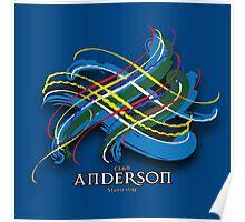 Anderson Tartan Twist Poster