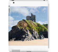 old historic Ballybunion castle on a cliff edge iPad Case/Skin