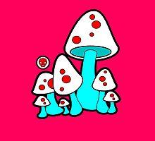 Aqua Mushrooms  by Sookiesooker