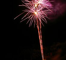 Carol's Fireworks @ Mount Barker 5 by Michael Humphrys
