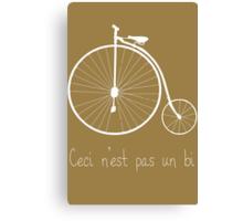 Dyke in white bike Canvas Print