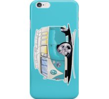 VW Splitty (Custom Blue) Camper Van iPhone Case/Skin