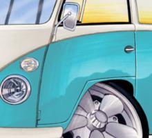 VW Splitty (Custom Blue) Camper Van Sticker