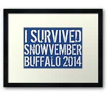Awesome 'I survived Snowvember Buffalo 2014' Snowstorm T-Shirt and Accessories Framed Print