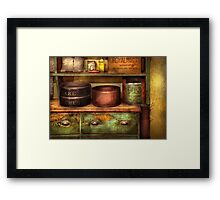 Chef - Kitchen - Food - The cake chest Framed Print