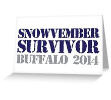 Funny 'Snowvember Survivor Buffalo 2014' Snowstorm Hoodies and Accessories Greeting Card