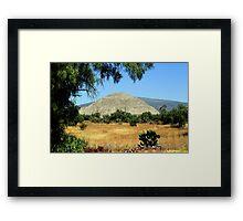Pyramid of the Sun Framed Print