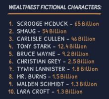 Top 10 Wealthiest fictional characters Kids Clothes