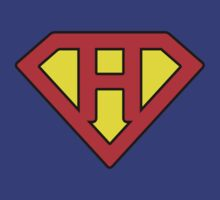 H letter in Superman style by Stock Image Folio