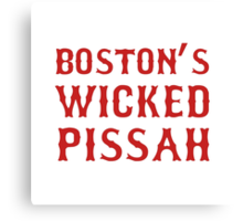 Boston Wicked Pissah Red Canvas Print