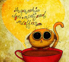 What my #Coffee says to me - May 10, 2014 Pillow by catsinthebag