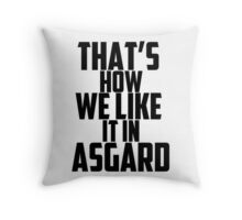 In Asgard Throw Pillow