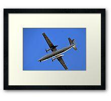 City Jet Over Exeter,Devon UK Framed Print