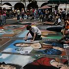 Drawing on sidewalks by zen107