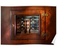 Steampunk - Electrical - The fuse panel Poster