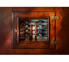 Steampunk - Electrical - The fuse panel Photographic Print
