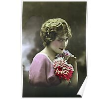 Woman with the flowers Poster