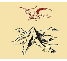 [The Hobbit] - Lonely Mountain (Light) Photographic Print