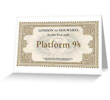 Hogwarts Express Ticket Greeting Card