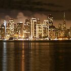 San Francisco  Bay - Night Lights by shell4art