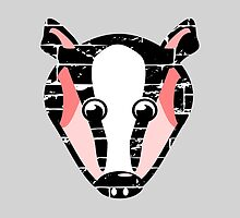 Cute Badger Face by piedaydesigns