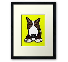Brown Patch English Bull Terrier Framed Print