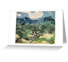 Olive Trees by Vincent van Gogh. Famous landscape oil painting. Van Gogh's unique swirling painting style. Greeting Card