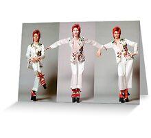 David Bowie - Ziggy Stardust Greeting Card
