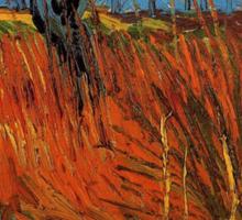 Vincent van Gogh, Willows at Sunset.  Sticker