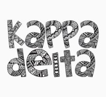 Kappa Delta Bubble Letters by emmytyga