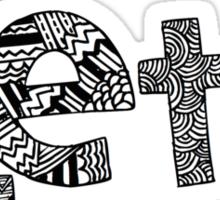 Pi Phi Bubble Letters Sticker