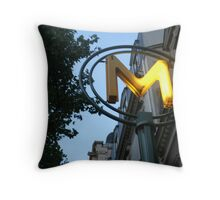 Metro Paris Throw Pillow