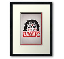 """The Lunatic"" Wrestling Design Framed Print"