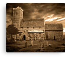 Stormy Church ~ 02 Canvas Print