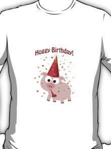 Hoggy Birthday! Cute confetti pig T-Shirt