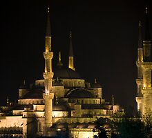 Blue Mosque by Night by deslover