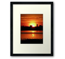 Sunset 2 11-12-07 Framed Print