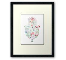 Flower Meadow Hamsa Framed Print